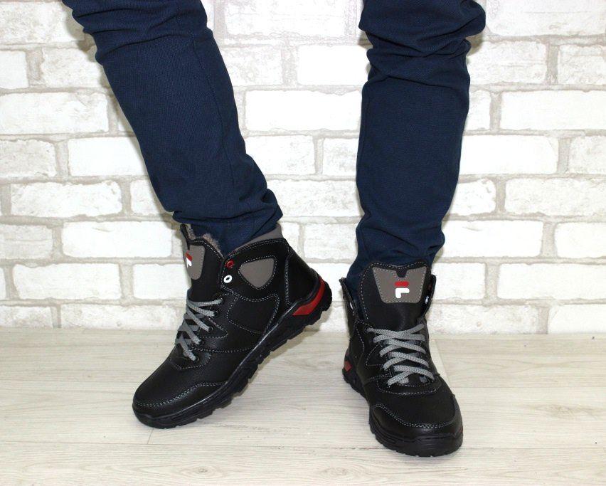 Тёплые мужские ботинки купить Киев, зимняя мужская обувь Украина, ботинки мужские купить онлайн 4