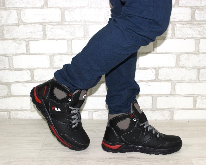 Тёплые мужские ботинки купить Киев, зимняя мужская обувь Украина, ботинки мужские купить онлайн 2