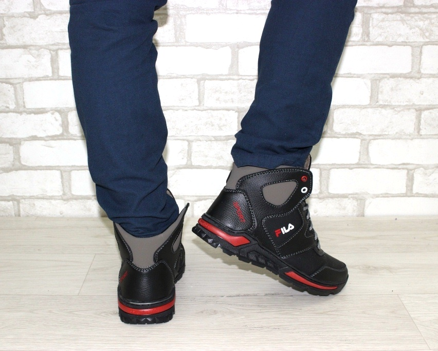 Тёплые мужские ботинки купить Киев, зимняя мужская обувь Украина, ботинки мужские купить онлайн 3