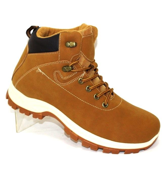 Осінні чоловічі черевики руді і чорні на шнурках