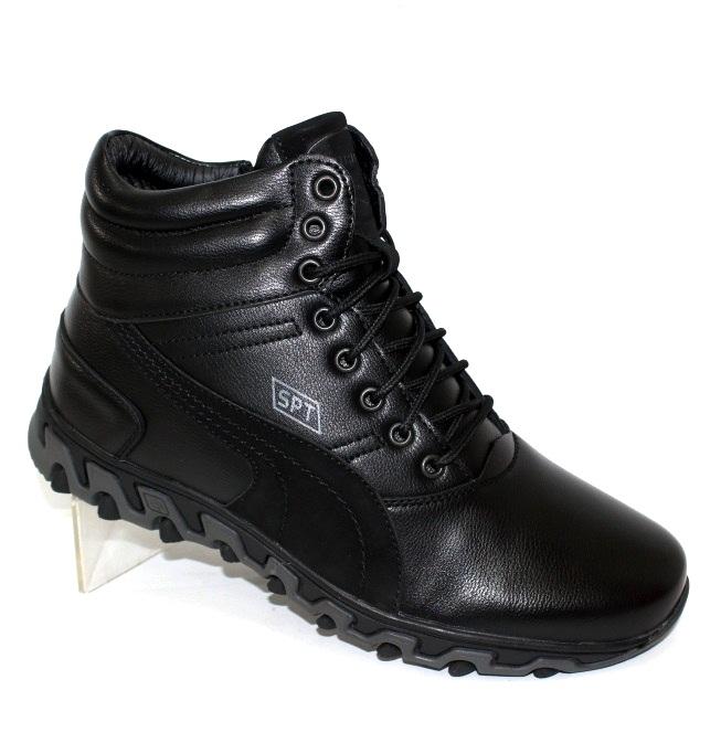 Зимние мужские ботинки на молнии и на шнурках
