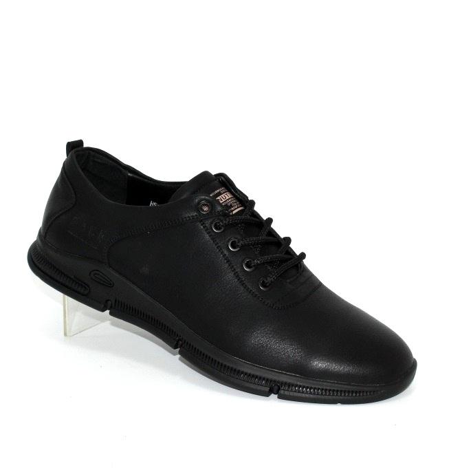 Мужские повседневные чёрные туфли в стиле Casual