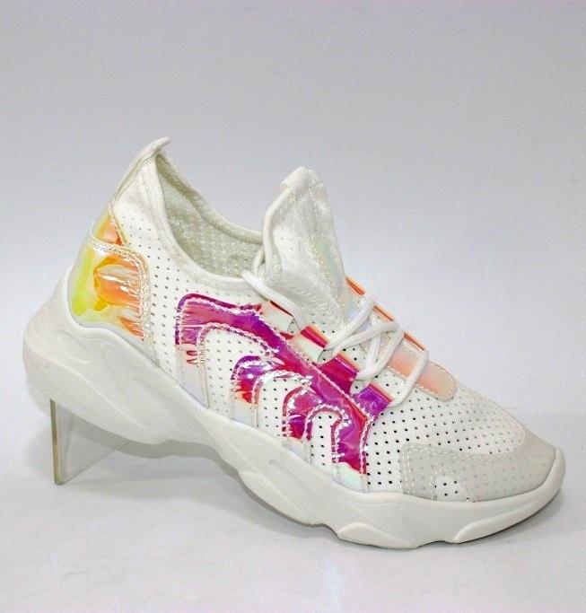 Кросівки жіночі літні рожеві і білі