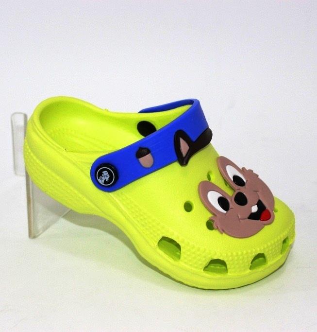 Крокси дитячі жовті для хлопчиків і дівчаток