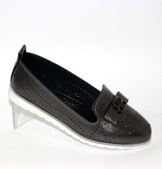 Бронзові туфлі недорого на дівчинку