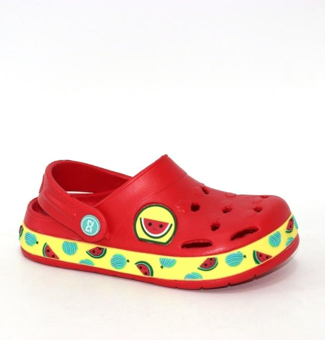 Красные детские кроксы для мальчиков и девочек