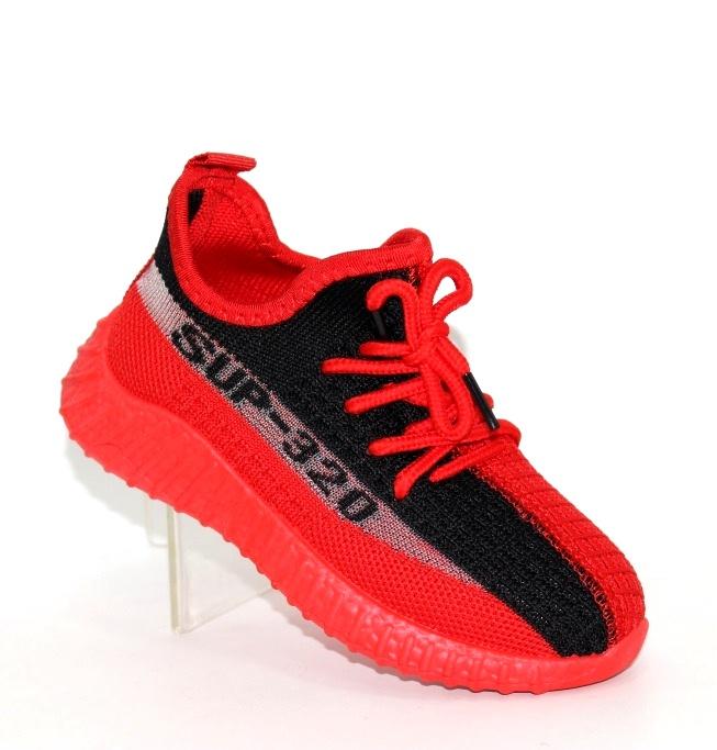 Красные кроссовки из трикотажа F5525-2 в Киеве - купить в интернет магазине