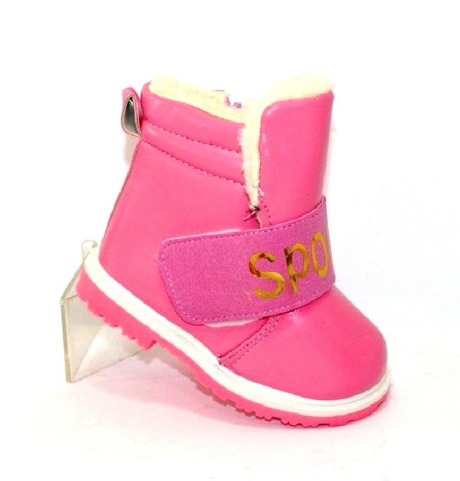 Зимові дитячі черевики на липучці і блискавки для дівчаток