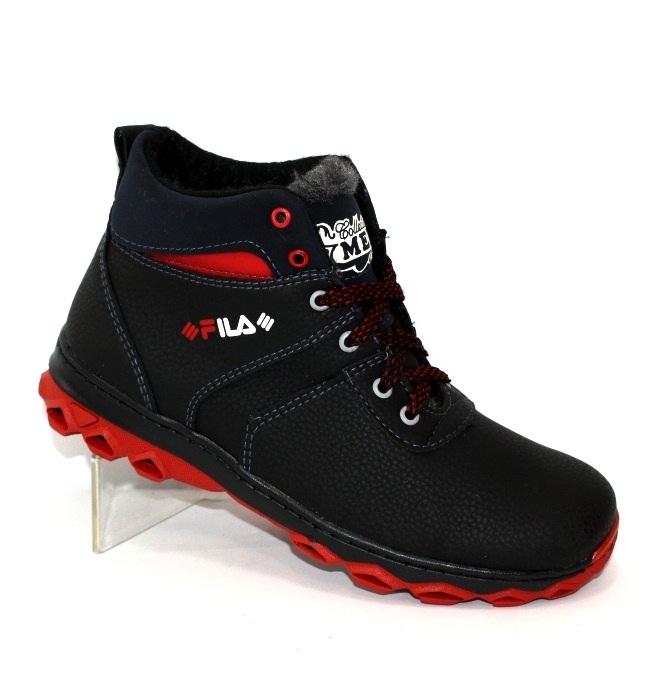 Міцні зимові черевики для хлопчиків підлітків розміри 34 35 36 37 38 39