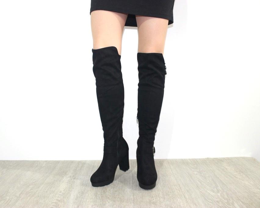 Женская обувь в розницу, высокие сапоги на каблуке 4