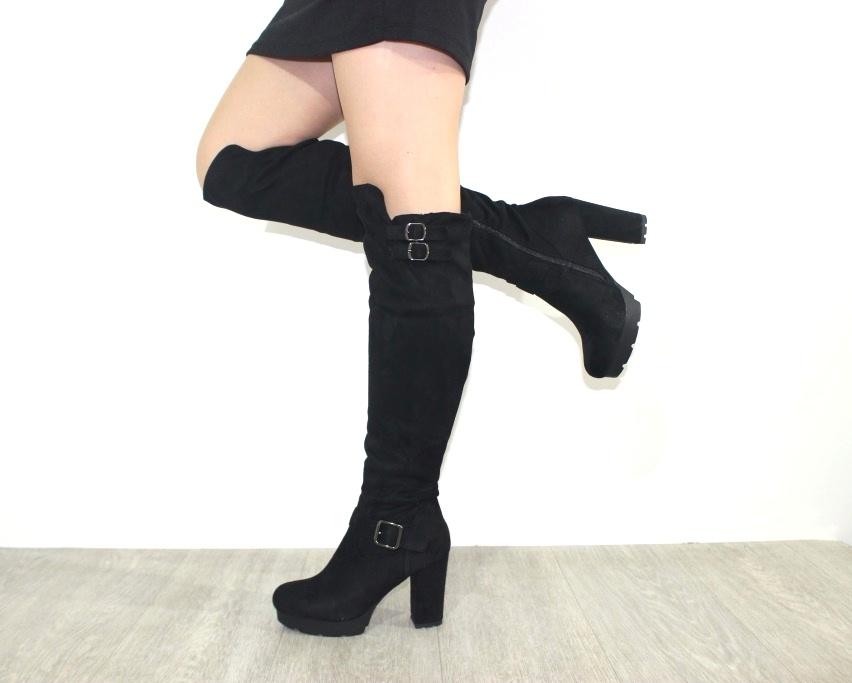 Женская обувь в розницу, высокие сапоги на каблуке 2