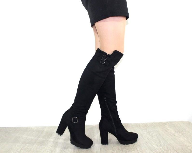 Женская обувь в розницу, высокие сапоги на каблуке 5