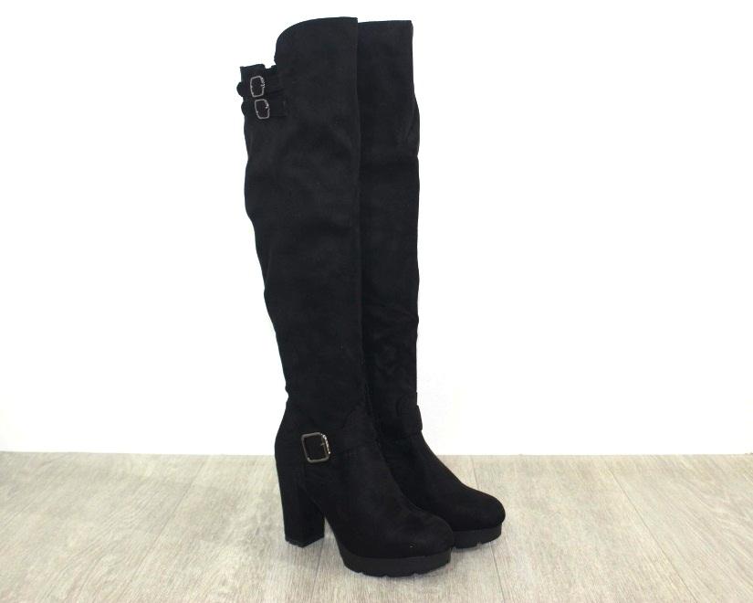 Женская обувь в розницу, высокие сапоги на каблуке 1