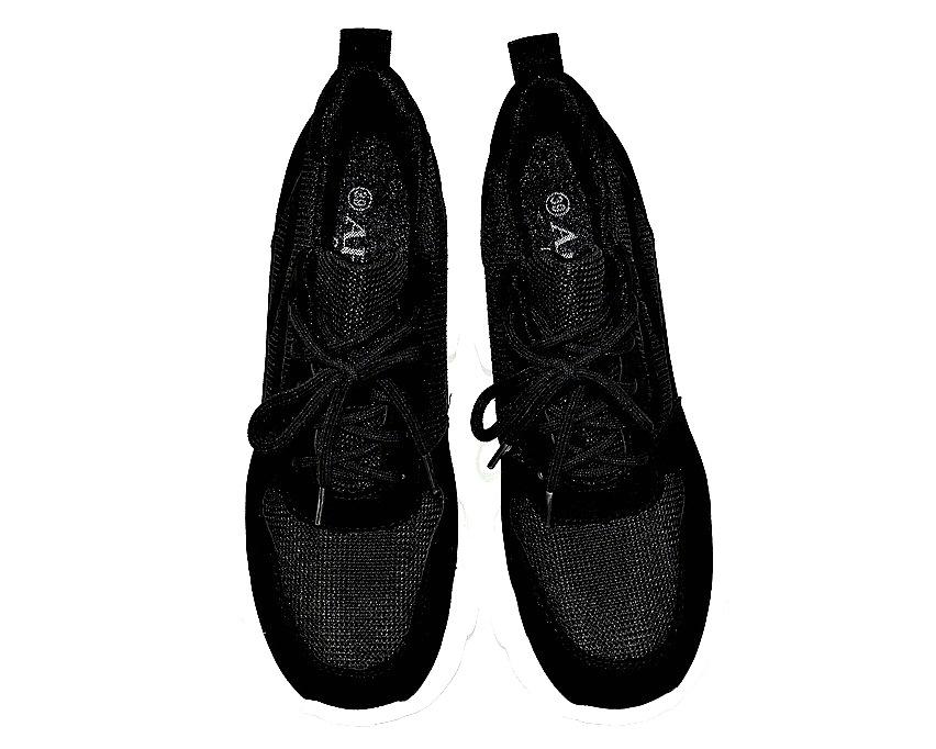 Чёрные сникерсы - ботинки на танкетке недорого в Киеве, купить подростковые сникерсы, чёрные сникерсы Украина 10