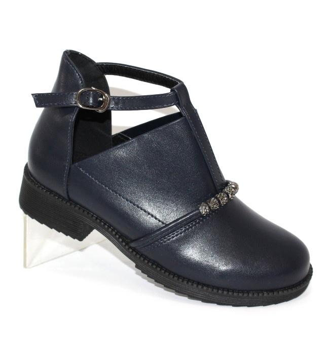 Красиві сині дитячі черевики для дівчаток