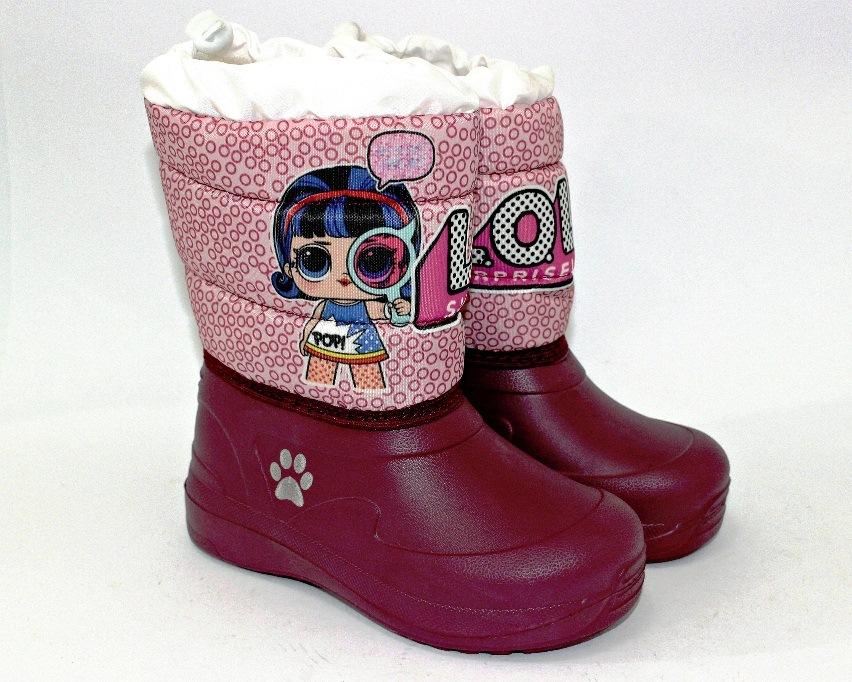 Зимняя детская обувь - дутики, сапожки из непромокаемой плащёвки