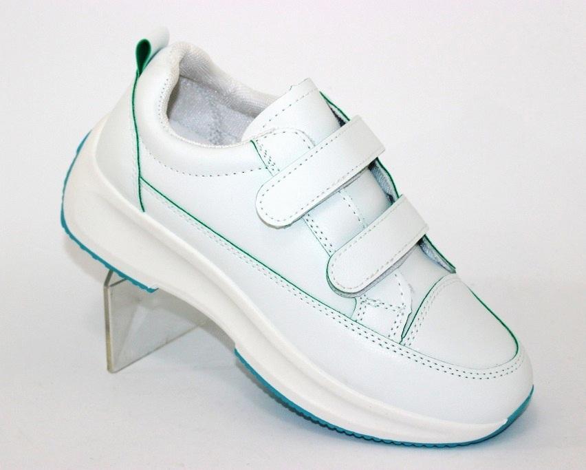 Белые женские кроссовки на липучках 8866-1 в Киеве - купить в интернет магазине 1