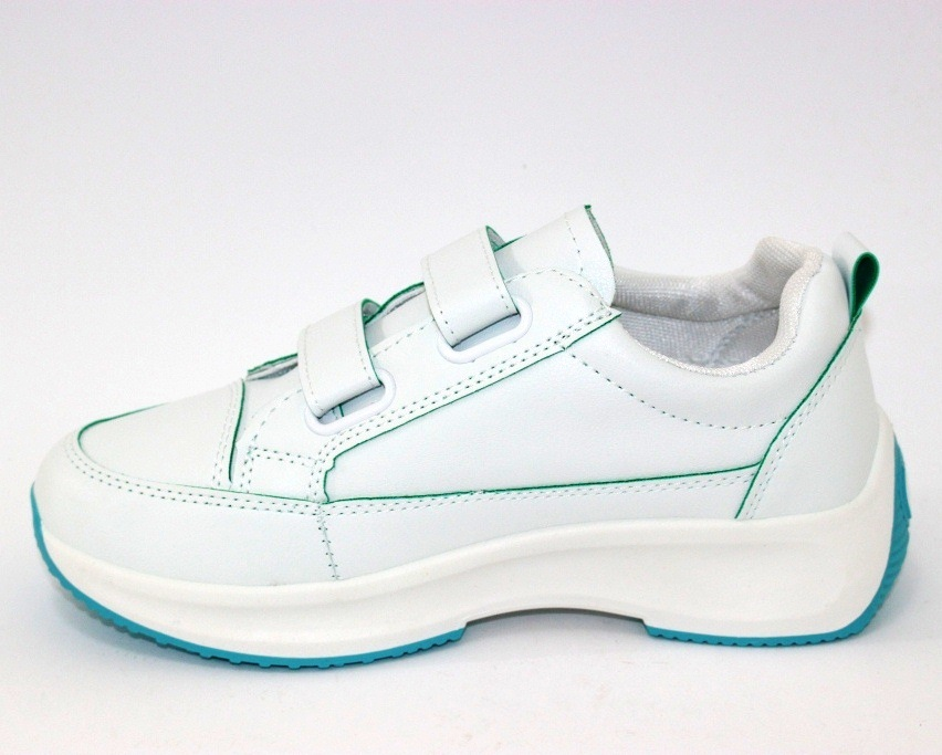 Белые женские кроссовки на липучках 8866-1 в Киеве - купить в интернет магазине 8