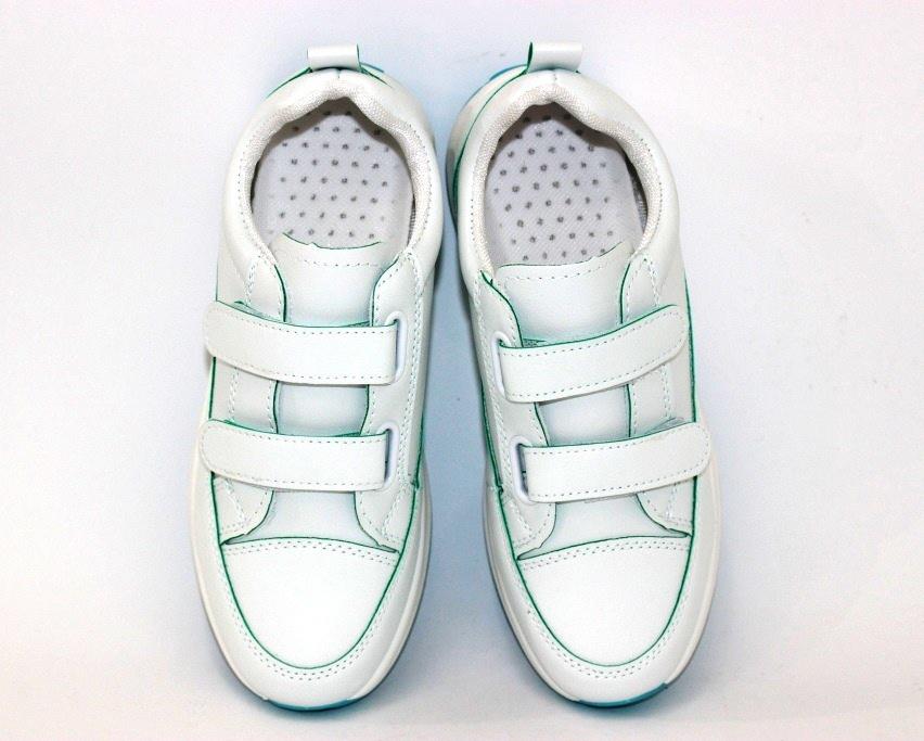 Белые женские кроссовки на липучках 8866-1 в Киеве - купить в интернет магазине 7