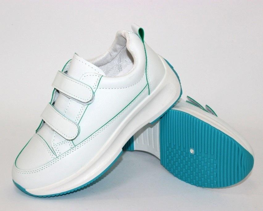 Белые женские кроссовки на липучках 8866-1 в Киеве - купить в интернет магазине 5