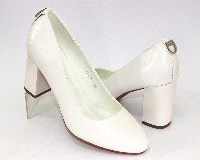 Женская модельная обувь Украина, туфли на каблуке белые, свадебные белые туфли 5