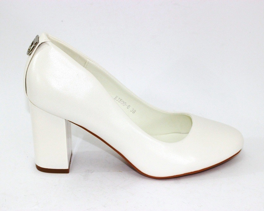 Женская модельная обувь Украина, туфли на каблуке белые, свадебные белые туфли 6