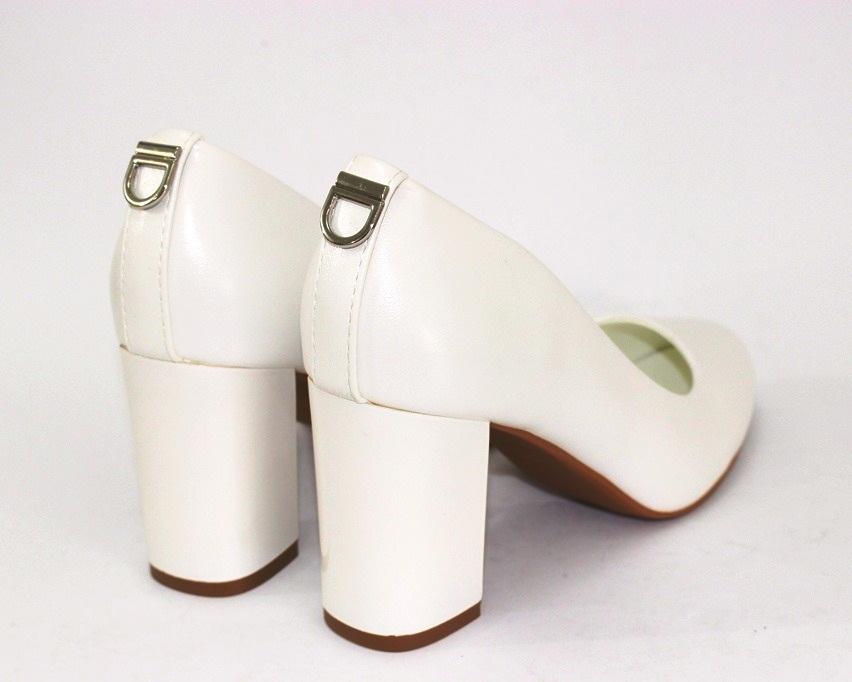 Женская модельная обувь Украина, туфли на каблуке белые, свадебные белые туфли 8