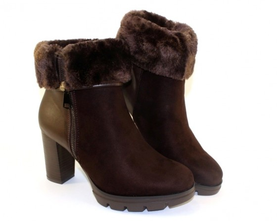 Купить женские зимние ботинки на высоком каблуке, сайт обуви в  Киеве, Луганске