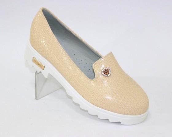 Бежевые балетки для девочки, купить летние детские балетки Киев, детская обувь Украина