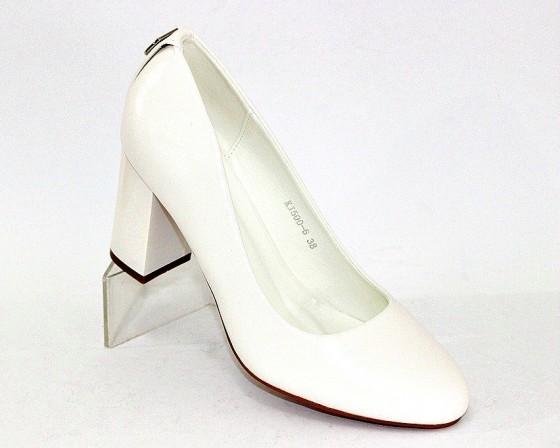 Женская модельная обувь Украина, туфли на каблуке белые, свадебные белые туфли