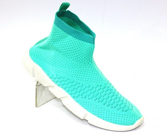 Бирюзовые текстильные кроссовки 1858-6 в Киеве - купить в интернет магазине