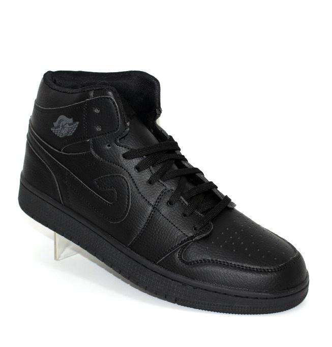 Мужские чёрные высокие кроссовки хайтопы - купить в интернет магазине по доступной цене в Украине