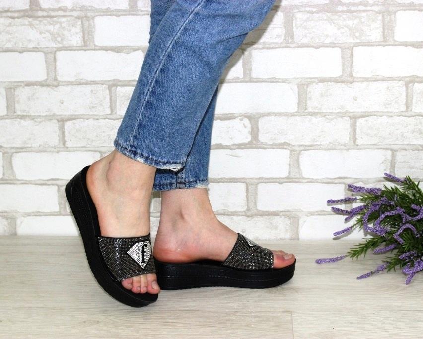 Купить шлёпки на танкетке, женские шлёпки распродажа, летняя обувь Киев, обувь Туфелек в Киеве 2