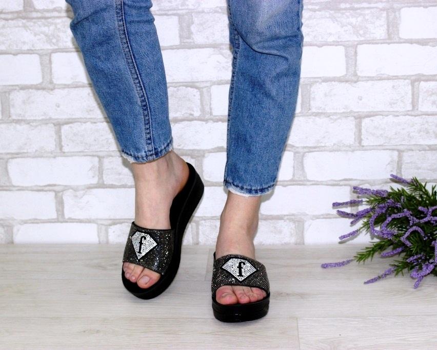 Купить шлёпки на танкетке, женские шлёпки распродажа, летняя обувь Киев, обувь Туфелек в Киеве 3