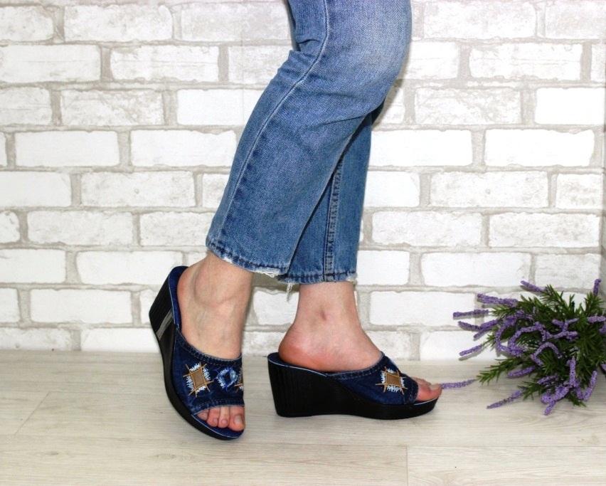 Джинсовые шлёпанцы недорого в Киеве, купить джинсовую летнюю обувь, женская летняя обувь Украина 2