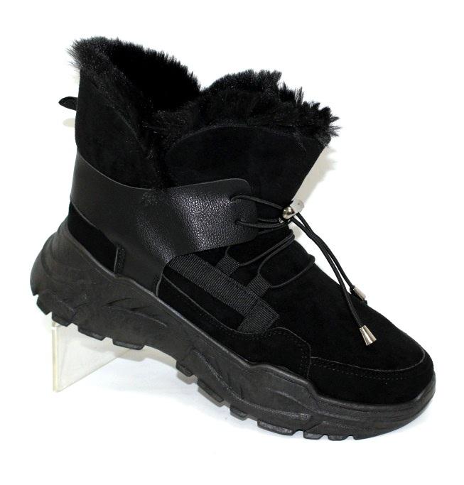 Женские замшевые ботиночки на меху