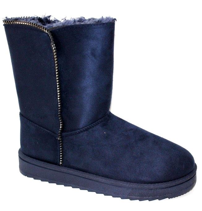 Синие женские угги - комфортная зимняя женская обувь